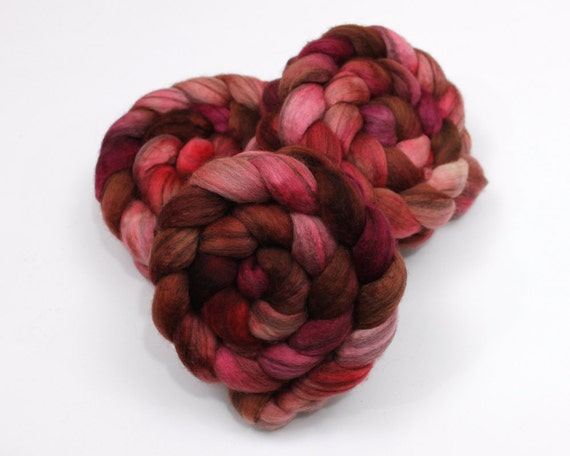 Mixed BFL Roving - Hand Dyed Roving for Felting or Spinning