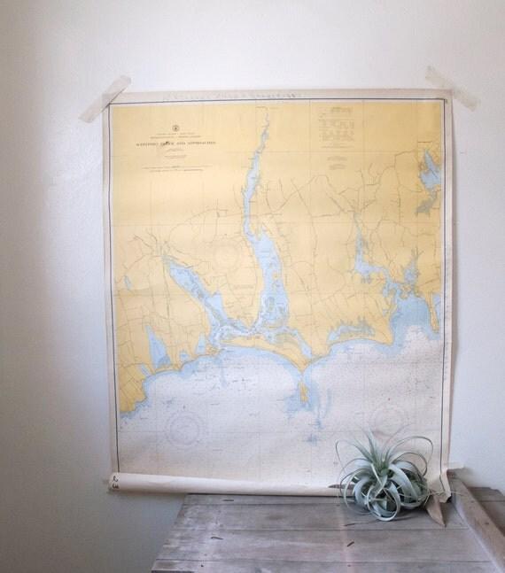 vintage westport river nautical map