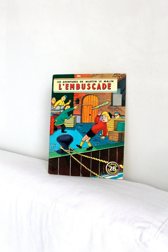 Réservé,  60s French children book   - Martin le malin L'EMBUSCADE 28