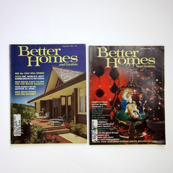 Better Homes And Gardens Magazine 1962 2 Issues By Attysvintage