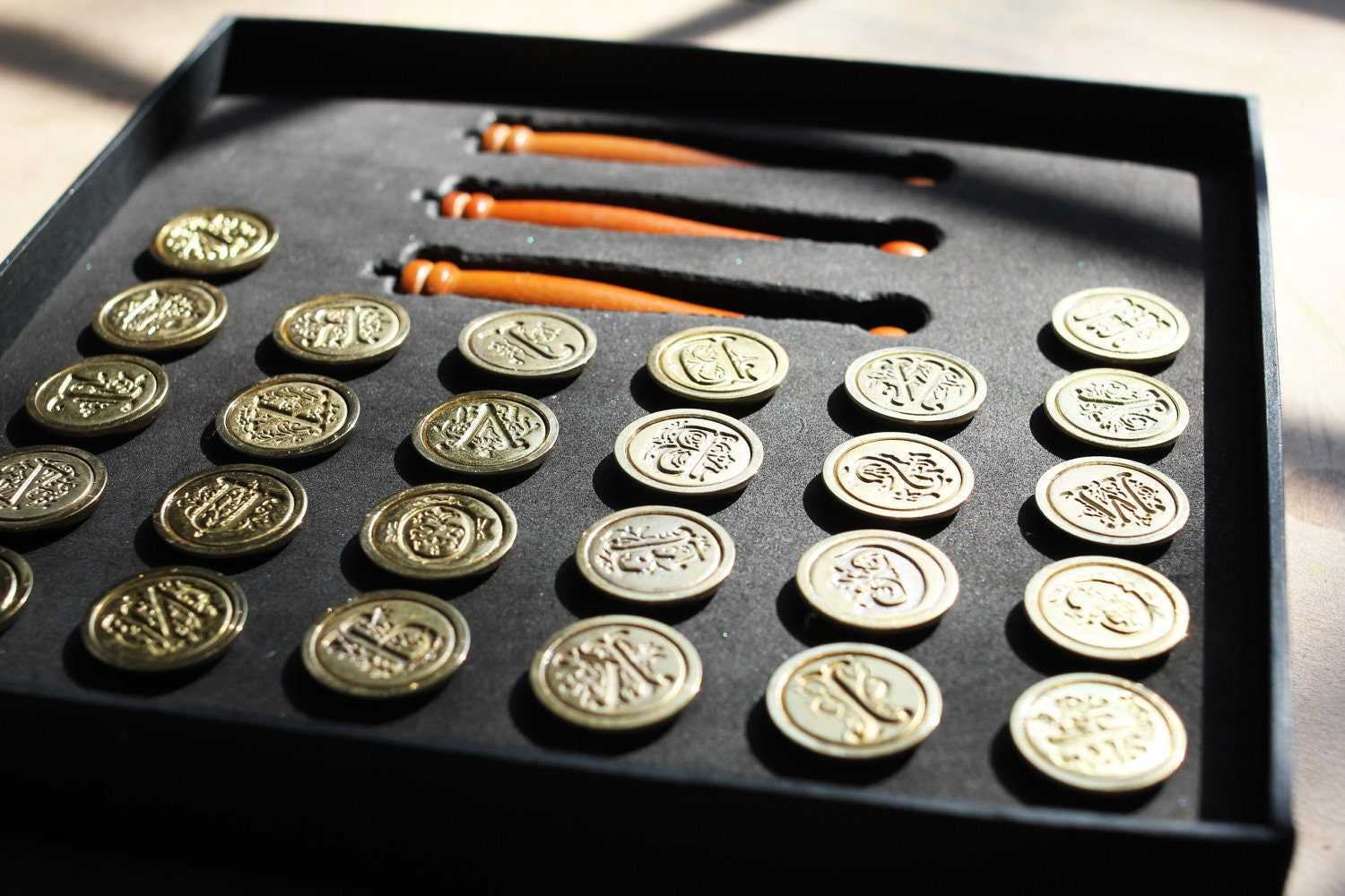 Monogram Wax Seal Stamp Set Collection Full A Z Stamps