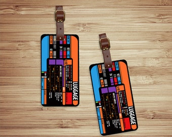Personalized Luggage Tags Star Space Trekker Spaceship Panel  Custom Address Printed Metal Tags Luggage Tag Set Personalized