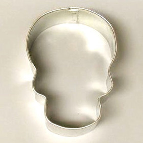 Halloween Skull cookie cutter, sugar skull cookie cutter, or snowman face with top hat Cookie Cutter,  Day of the Dead