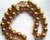 Gold Bead Necklace, Vintage, Napier, Goldtone, Mad Men, Fashionista, Estate Jewelry