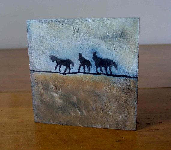 Three Horses - Original Painting - Horses - Western - Prairie