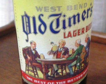 Vintage Amber Beer Bottle Old Timers Lager Walter Brewing Company Eau Claire Wisconsin