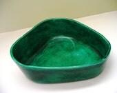 Vintage Ceramic Ring Dish Danish Modern Emerald Green Jamar Mallory 1960s