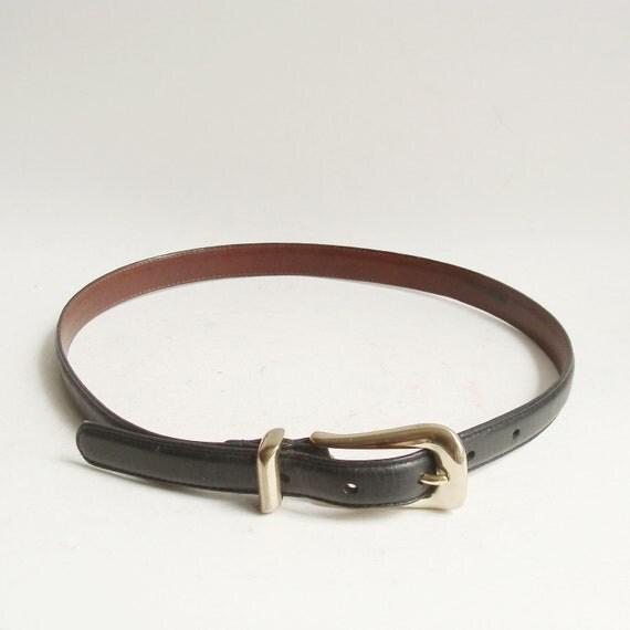 Coach belt / black leather belt / waist belt / belt size small / vintage belt