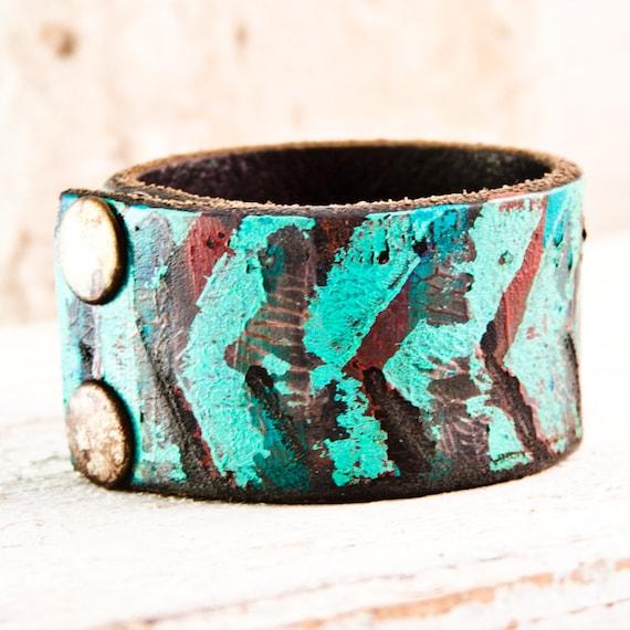 Turquoise Jewelry Native Tribal Cuff Bracelet Wristband