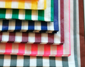 Set of  100 - Traditional Sweet Shop Candy Stripe Paper Bag Variety - All Colors - 5 x 7 - New Style