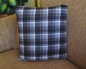 Plaid and Houndstooth QUILLOW - a personal quilt that folds into a pillow - READY to SHIP