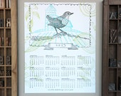 2013 Letterpress 11x14 Calendar - trims to 5x7 print