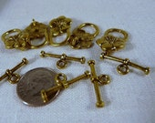Toggle Clasps, Brass, Flower   4215-5