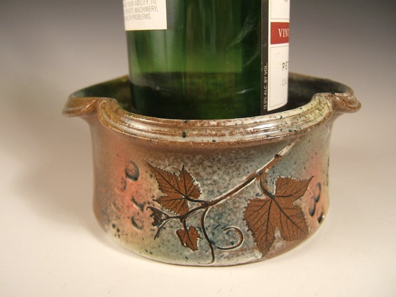 Wine Coaster/Dip Bowl/Candle Holder with grapevine and leaves