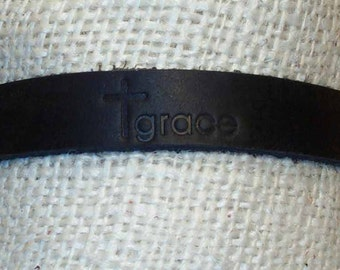 Handmade Leather Grace Bracelet
