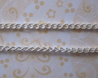 CLEARANCE SALE - Chain Silver Plated DaintyTwist Chain 3x5mm, 0.8mm (10)