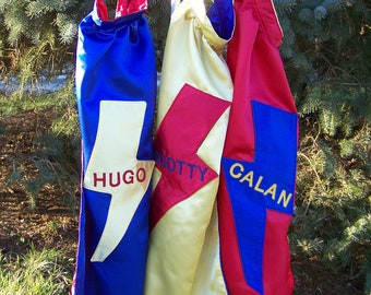 Boys Custom Superhero Cape, Prince Cape, Kids cape with Initial or Name