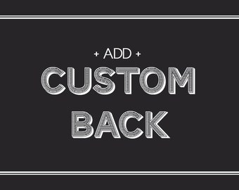 Add a Custom Back to your Deluxe Card Stock Order