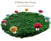 Fairy Ring Rug With Rainbow Speckled Toadstool Mushrooms 3 ft. (36 in.)