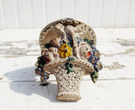 Vintage Flower Basket Door Knocker
