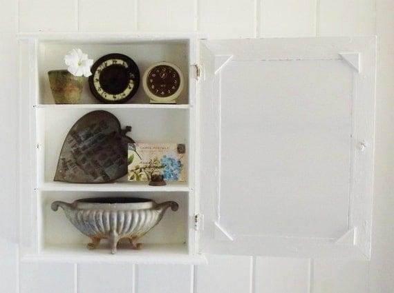 Vintage Mirrored Medicine Chest Display Cabinet