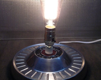 Packard Hubcap Table Lamp - 1954 - 1956 Packard Clipper Hubcap Lighting - Man Cave Decor - 1955