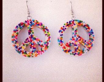 Sprinkle Peace Sign Earrings