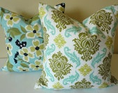 SINGLE 18 x 18 Pillow Cover // Damask Dill