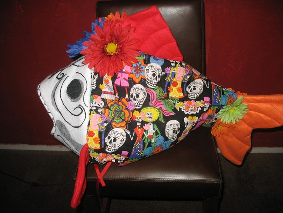 Day of the Dead Fish Costume II - one size fits all