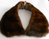 mink collar with wide ends