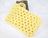Crochet Soap Saver Yellow Cotton Soap Holder