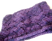 Beautiful Purple Lace Cowl - 100% wool - Violet Lavender Lilac - Neckwarmer