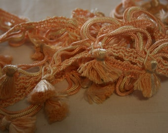 Peach and Ivory Fringe