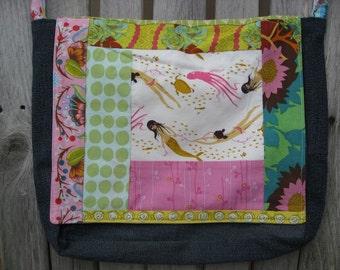 Mermaid Patchwork Messenger Bag / Diaper Bag