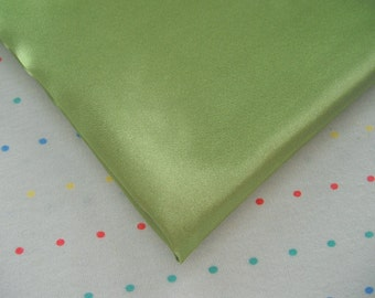 "Olive Green Satin Lining Fabric, 60"" Wide, BTY"
