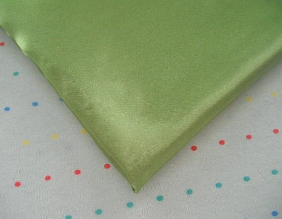 Olive Green Satin Lining Fabric
