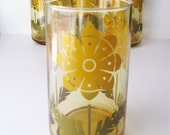 Vintage Glasses, Retro Flower Design