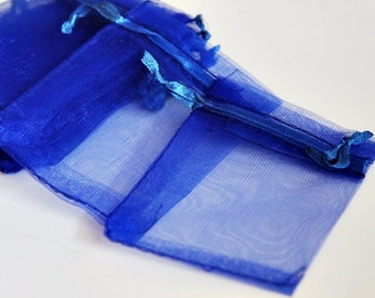 NEW 50pcs Royal Blue 2.8 x 3.4 Organza Bags - For Gifts, Favors, Weddings, Baby Showers, Jewelry, Soap, Fragrance Sachets