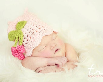 Pretty Kitty Cat Beanie Crochet Pattern Infant to Adults PDF 127