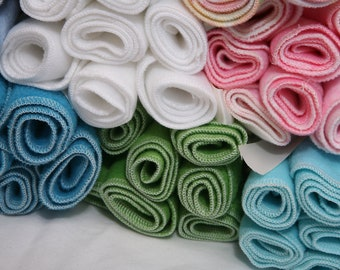 Fleece Diaper Liners- 12 fleece diaper liners- U PICK color
