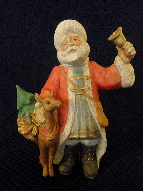 Items similar to santa claus ceramic figurine old world