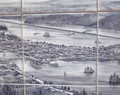Historic Olympia Washington Ceramic Tile Mural- Unique Kitchen Backsplash and Bath Tile - MilestoneDecalArt