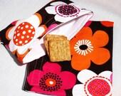 Bold Flowers Sandwich and Snack Bag Set, Reusable, Earth Savvy