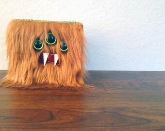 Copper Monster Wallet- Three Green Eyes