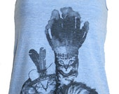 Native Kitty Cats Tank Top American Apparel Athletic Blue XS