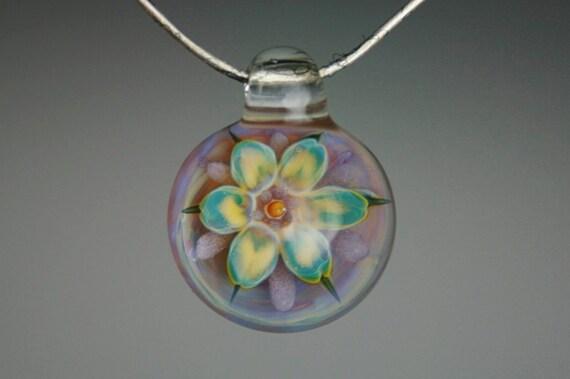 Lampwork Pendant -Boro Glass Handblown Pendant- Focal Bead- Glass Jewelry- Kyle Keeler