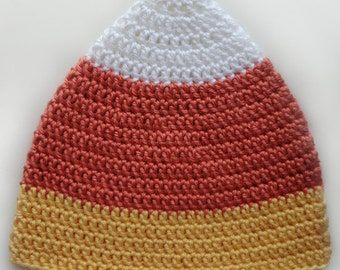 Candy Corn Hat - 5 Sizes - PDF Crochet Pattern - Instant Download