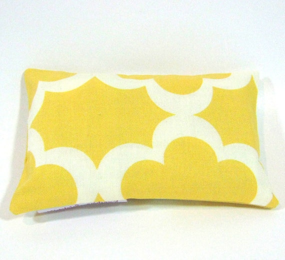 Tissue Pouch- Travel Tissue Case using Taza Tarika Yellow fabric