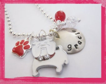 BullDog Necklace -  Personalized Jewelry - for your Dog Lover Grils Necklace #f137