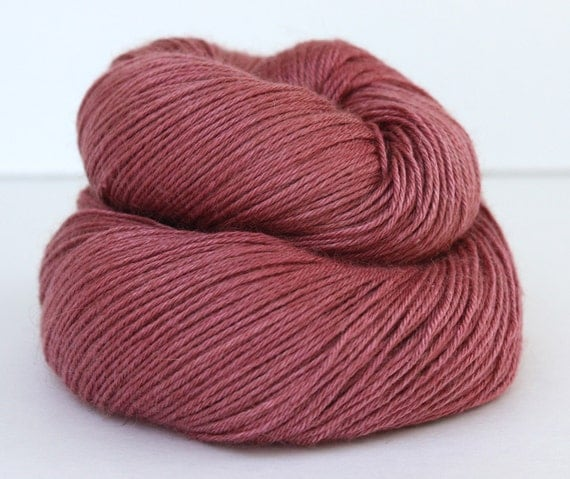 Satin Rose--Desert Cat-- Baby Camel/Silk fingering